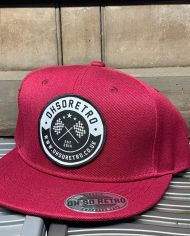 Burgundy Patch Snapback